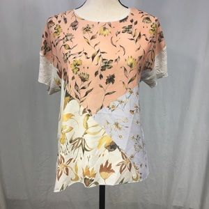 Zara Basics Collection Floral Tee Size Small
